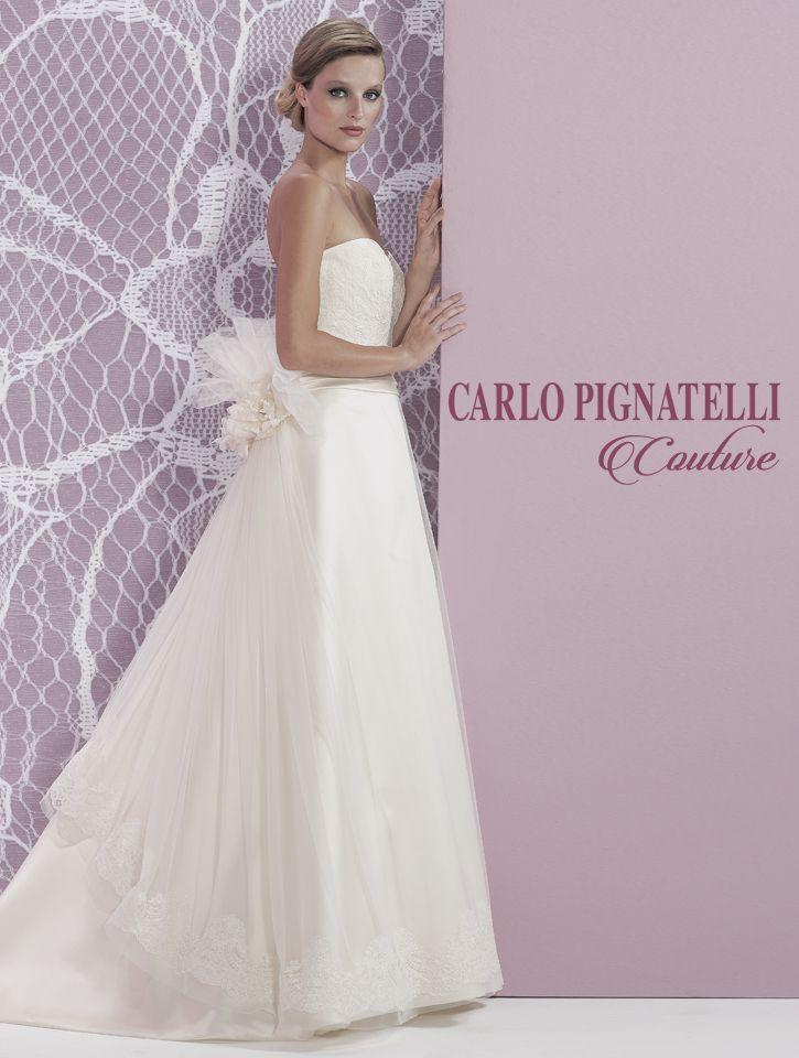 "Model ""Liviana"" - Carlo Pignatelli Couture 2015. #carlopignatelli #couture #sposa #bride #weddingdress #bridalgown #weddingday #matrimonio"