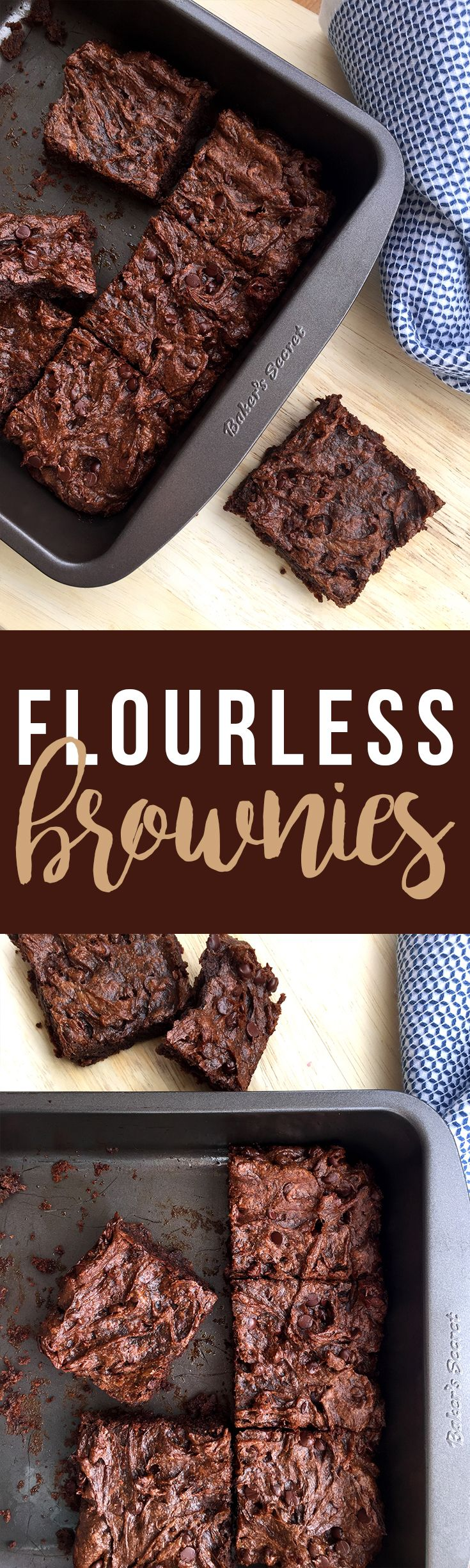 Flourless Brownies (made with almond butter and avocado!) are vegan, paleo, and gluten-free. Click to read the recipe or pin to save for later! GrokGrub.com