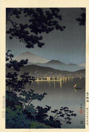 Tsuchiya Kōitsu, Evening at Atami, c. 1940
