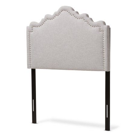 Baxton Studio Nadeen Modern and Contemporary Greyish Beige Fabric King Size Headboard