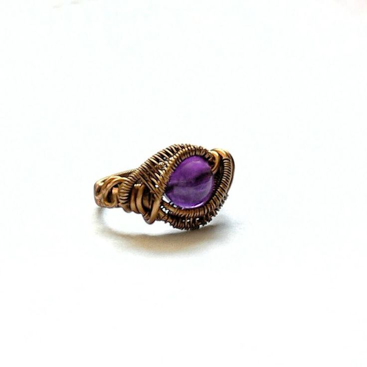 Earthy, organic design amethyst ring for all those February babies!