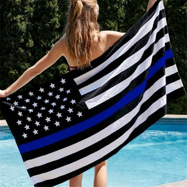 3x5ft USA Police Flags Thin American National Flag White And Blue Stars