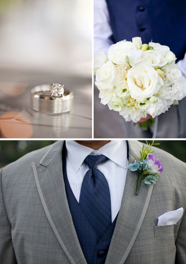 Pretty Bouquet Clic Navy And Gray North Carolina Wedding