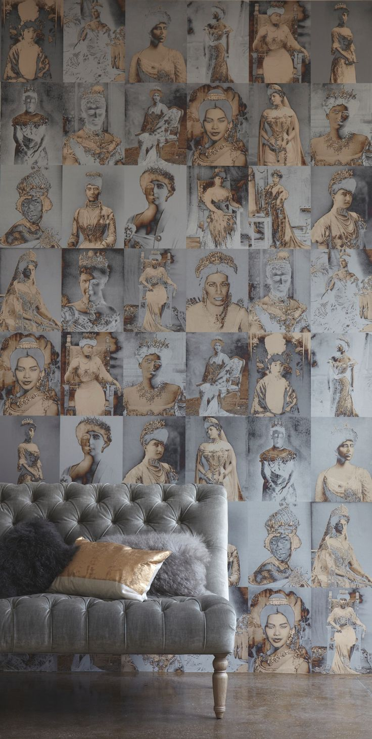 life1nmotion:  Distinctive and mixed-media wallpapers designed by Trove, New York