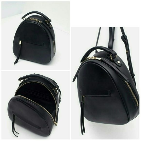 Zara Backpack Black RARE Brand new with tags.  Purchased from ZARA.  Color: Black  As seen on fashion bloggers.  All items ship within two business days. Zara Bags Backpacks