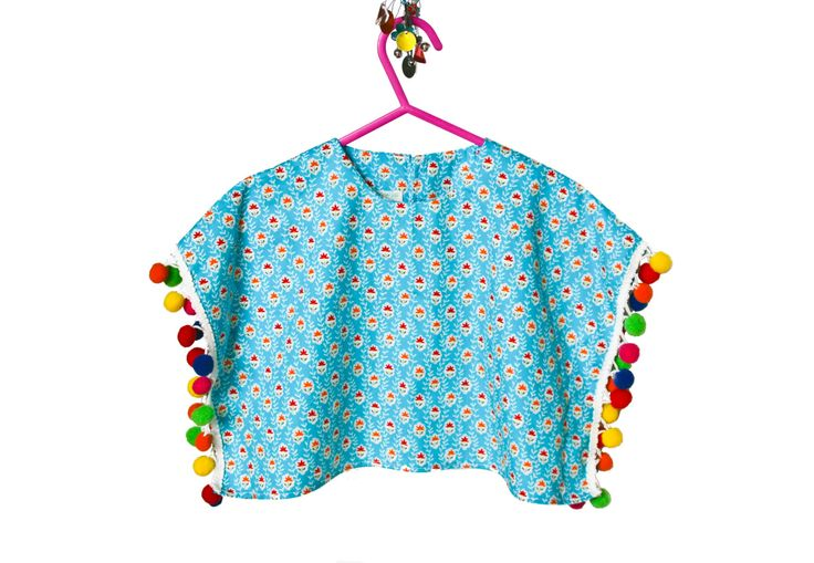 Kids Poncho, Pom Poms, Baby Girl, Spring Celebrations, Kids Fashion, Gift Ideas by MollylovesBowieKIDS on Etsy