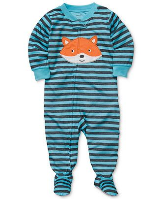 Carter's Baby Pajamas, Baby Boys One-Piece Striped Coverall - Kids Newborn Shop - Macy's