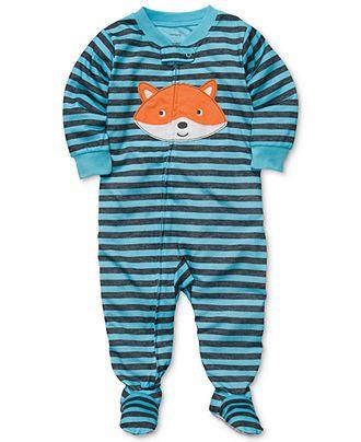 Carter's Baby Pajamas, Baby Boys One-Piece Striped Coverall - Kids Newborn Shop - Macy's