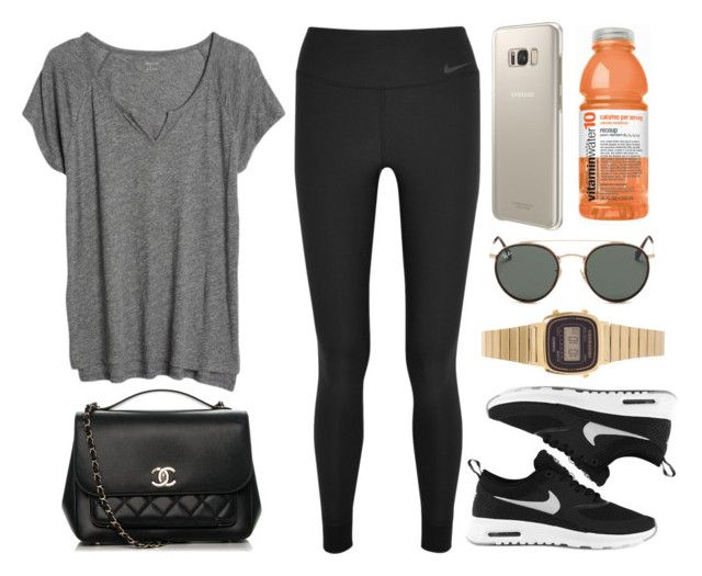 """Sin título #12871"" by vany-alvarado ❤ liked on Polyvore featuring NIKE, Madewell, Chanel, Samsung, Ray-Ban and Casio"