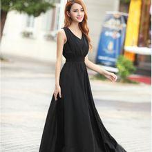 Богемный Dress 2017 Лето Новые женские Dress Long Solid Dress тонкий Рукавов Пляж Dress Для Женщин V-образным Вырезом 6 Цвета Мило стиль(China (Mainland))