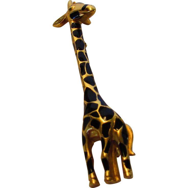 Vintage Signed Carolee Giraffe Pin