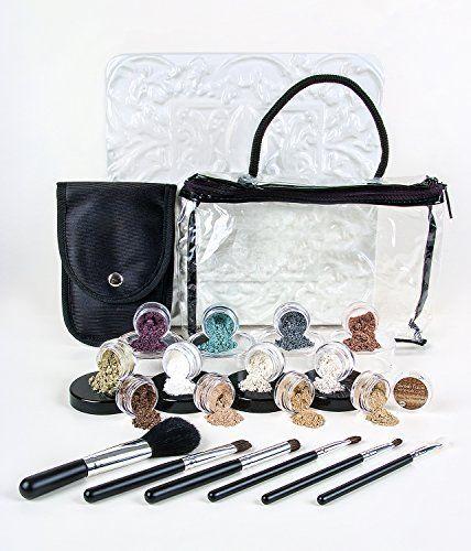 20 pc. STARTER KIT with BRUSHES *Choose your Shades* Mineral Makeup Sample Size Set Mineral Foundation Blush Veil Eye Shadows (Light Tan & Deep Tan) - http://essential-organic.com/20-pc-starter-kit-with-brushes-choose-your-shades-mineral-makeup-sample-size-set-mineral-foundation-blush-veil-eye-shadows-light-tan-deep-tan/