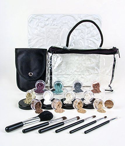 20 pc. STARTER KIT with BRUSHES *Choose your Shades* Mineral Makeup Sample Size Set Mineral Foundation Blush Veil Eye Shadows (Light Tan & Deep Tan) - http://essential-organic.com/20-pc-starter-kit-with-brushes-choose-your-shades-mineral-makeup-sample-size-set-mineral-foundation-blush-veil-eye-shadows-light-tan-deep-tan/
