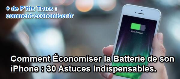 Voici les 30 meilleures astuces pour améliorer l'autonomie de votre iPhone.  Découvrez l'astuce ici : http://www.comment-economiser.fr/comment-economiser-batterie-iphone.html?utm_content=buffered148&utm_medium=social&utm_source=pinterest.com&utm_campaign=buffer