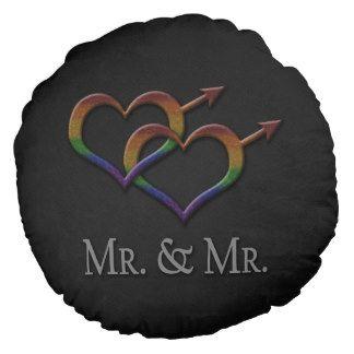 Sr. e Sr. orgulho gay Almofada Redonda