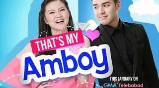 Thats My Amboy February 1 2016   Thats My Amboy February 1 2016 full episode replay. Ay grabe ka! Mag-sorry ka naman Bryan! Kawawa naman si Maru! #AmboyImSorryMaru That's My Amboy is an upcoming Philippine romantic comedy drama series to be broadcast by GMA Network starring Barbie Forteza and Andre Paras. It is set to premiere on January 25 2016 replacing Kapuso Primetime Cinema on Because of You's timeslot on the network's GMA Telebabad block and also aired worldwide via GMA Pinoy TV…
