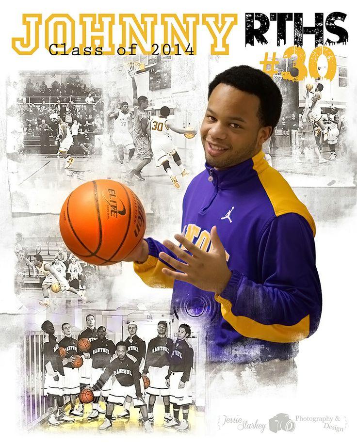 High School Basketball Poster Senior Night Basketball