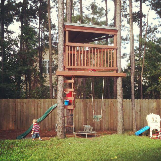 Backyard Fort: 344 Best Treehouses Images On Pinterest