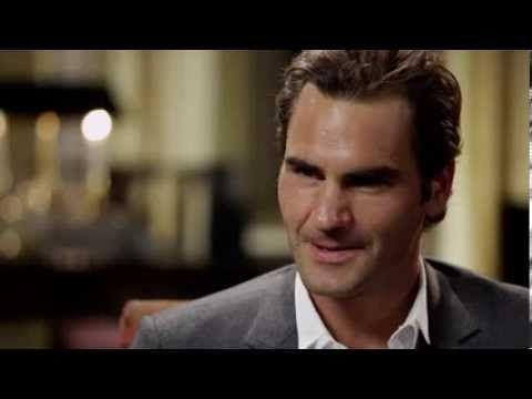 Andy Roddick interviews Roger Federer.