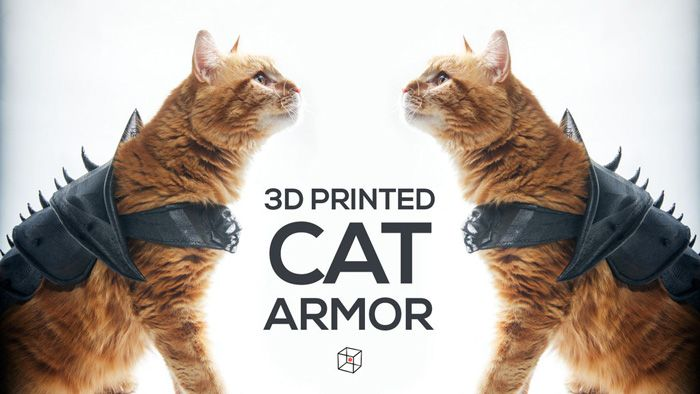 3D Printed Cat Armor http://geekxgirls.com/article.php?ID=8189