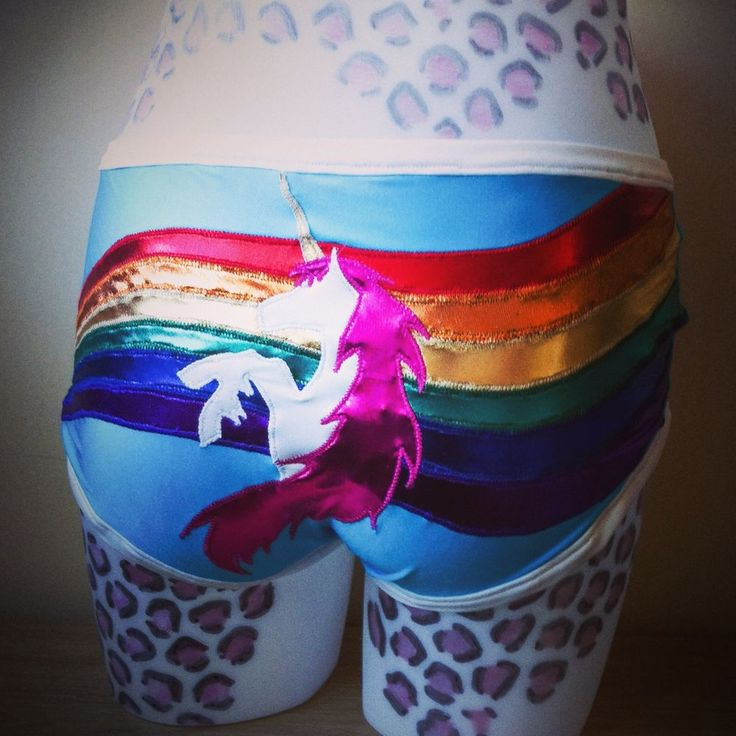 Unicorn roller derby booty shorts hot pants