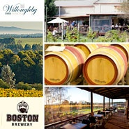 Willoughby Park Winery & Boston Brewery Combining passion and experience, Denmark's new winery and only microbrewery now open.  Combining passion and experience, Denmark's new winery and only microbrewery now open!Willoughby Park is a new and exciting winery producing the Jamie & Charlie, Willoughby Park and Kalgan River wine ranges. Now open is the Boston Brewery, Denmark's only microbrewery, serving seasonal and delicious regional produce.