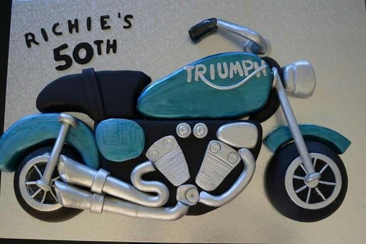 Triumph motorcycle cake Www.facebook.com/Rkdesignsnz