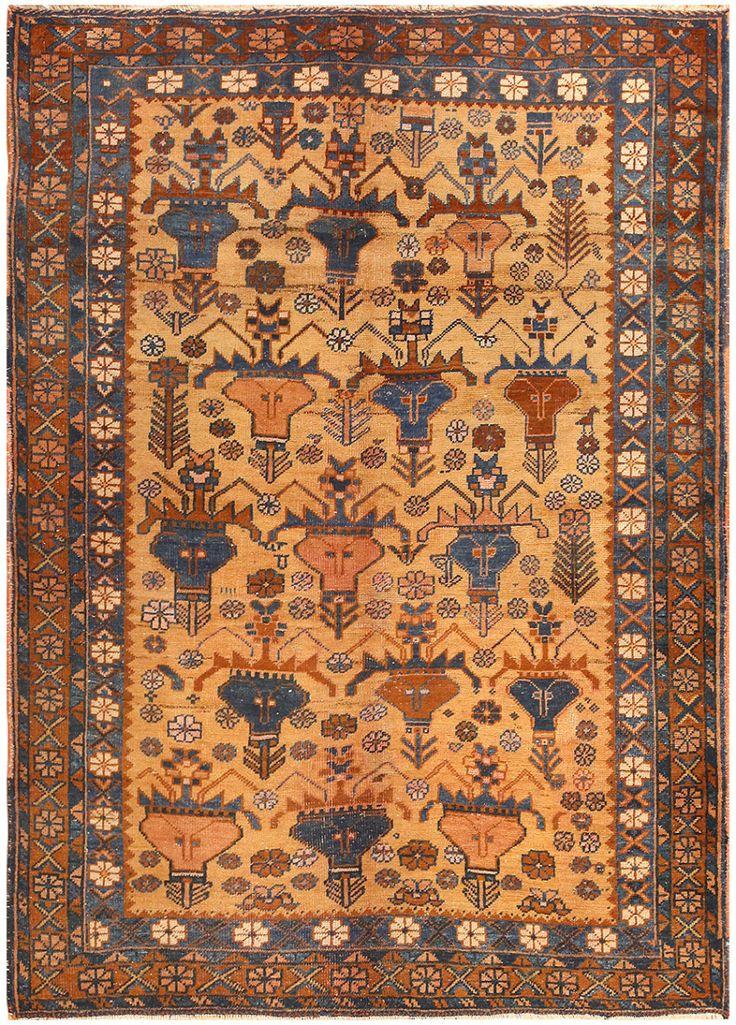 Antique Afshar Persian Rug 50045