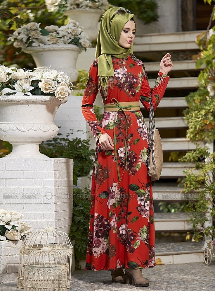 Dört Mevsim Elbise - Turuncu - Nilüfer Kamacıoğlu