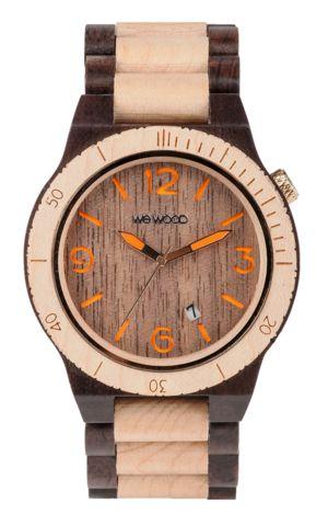 Wooden Watch Alpha Choco Beige