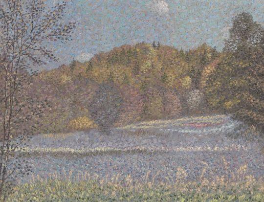 Alexander Kharitonov (Russian, 1932-1993), Hoarfrost, 1976, Oil on canvas, 29 x 37 cm.