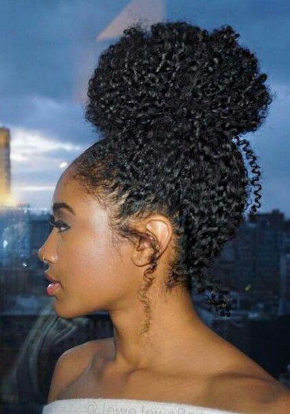 Puff bun #natural #curls