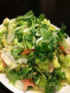 LUANG PRABANG aka YUM SALAD (lettuce and watercress salad with egg yolk dressing) ~~~ recipe gateway: this post's link + http://www.sbs.com.au/food/recipes/luang-prabang-salad [Luke Nguyen] [Laos] [sbs] [padaek]