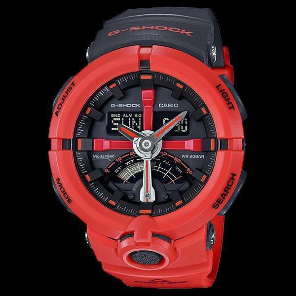 CASIO G-SHOCK URBAN SPORTS RED BLACK WATCH GA500P-4ADR