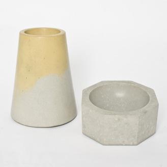 Concrete vase and bowl by Matt Heide - Edmonton, Alberta. Member of the Alberta Craft Council.