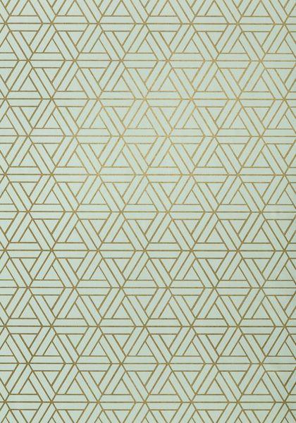 Medina #wallpaper in #metallic on #aqua from the Geometric Resource collection…