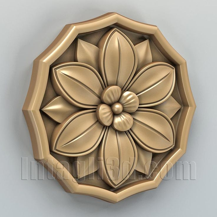 3D model for CNC routers and 3D printers (art. Round rosette 006)
