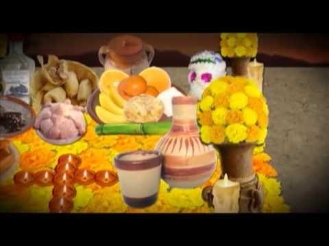 ▶ Significado de los elementos que componen un altar de muertos - YouTube