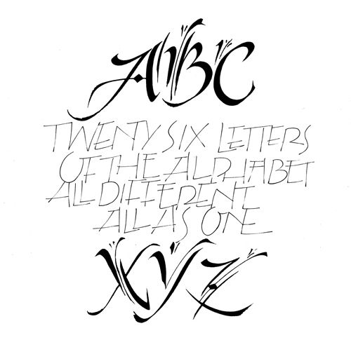 38 Best Images About Calligraphy And Lettering On Pinterest
