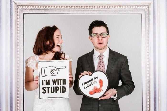 Couple album photo de mariage original cool idée amusante