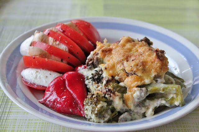 Huvilaelämää ja mökkiruokaa: Härkis-parsakaalivuoka