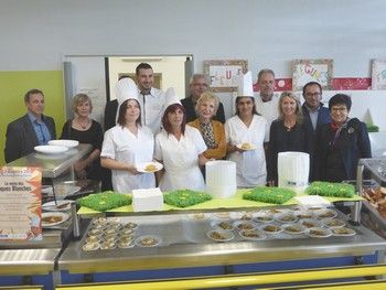 2ème menu gastronomique des Toques Blanches du Roussillon dans  les restaurants scolaires du S.I.S.T. Perpignan Méditerranée
