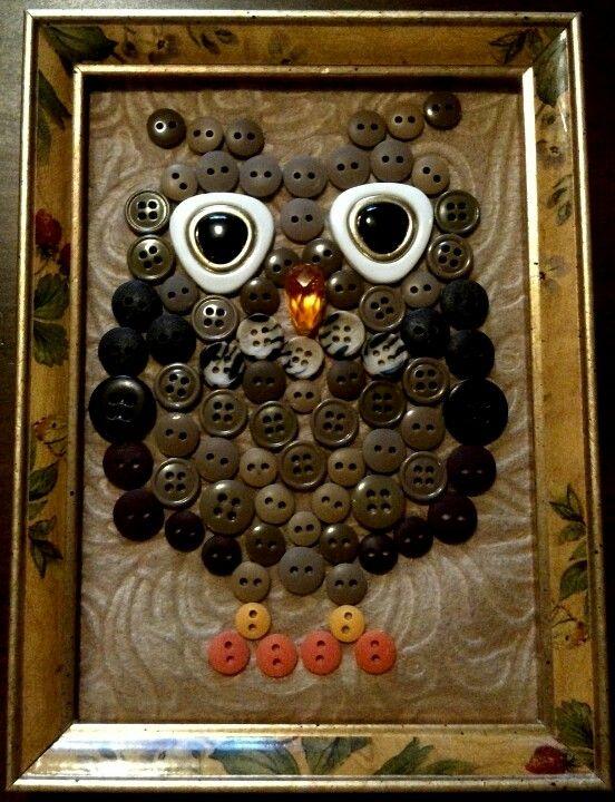 Button owl. DIY