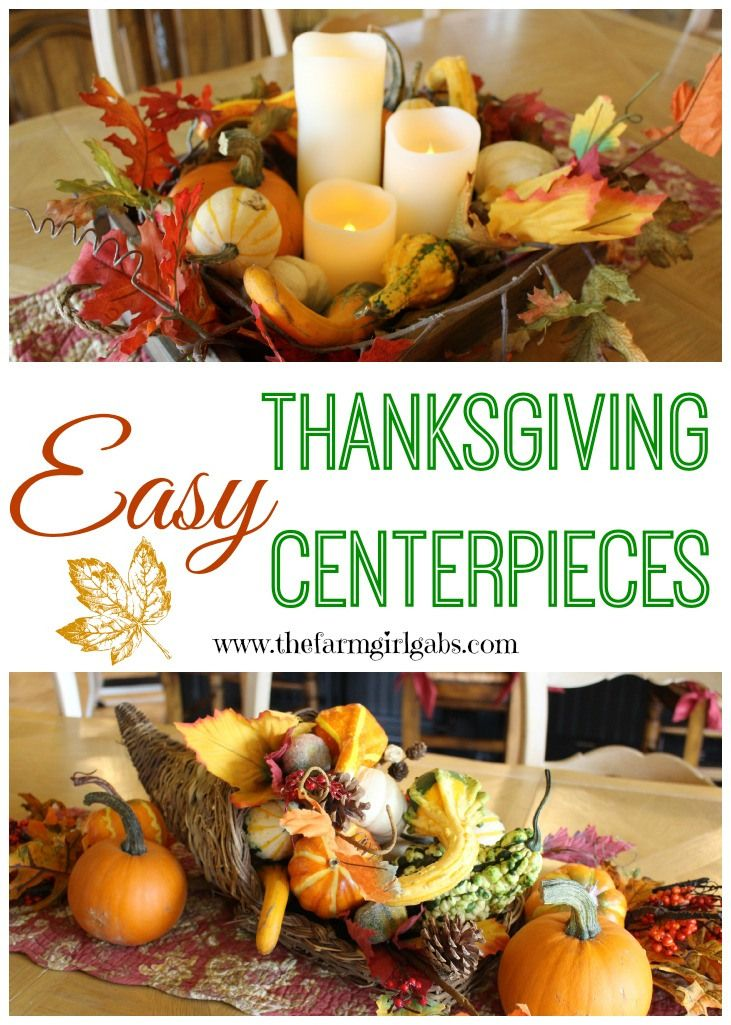 Quick and easy fall thanksgiving centerpiece ideas