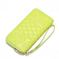 NUCELLE designerski portfel damski Żółty