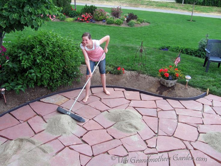This Grandmother's Garden: Filling in the Gaps: Part 3 of our DIY Flagstone Patio