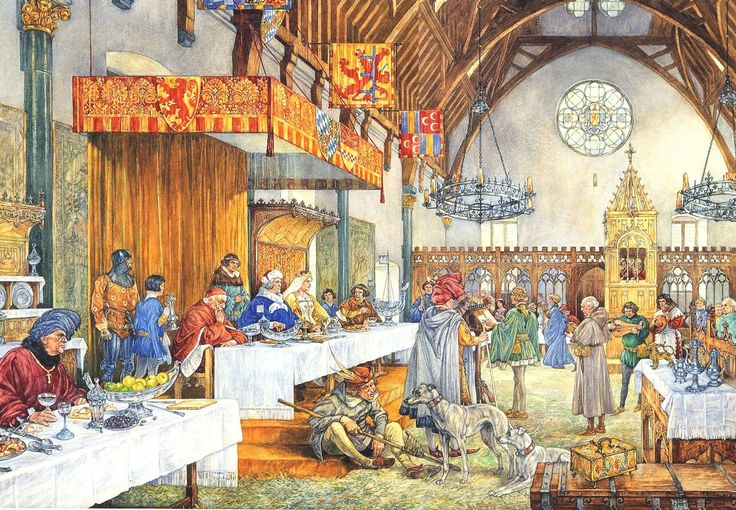 Sprookjessprekers in de Ridderzaal, 1394