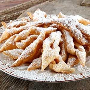 Authentic lithuanian recipe for Twigs - deep fried pastry strips aka Žagarėliai