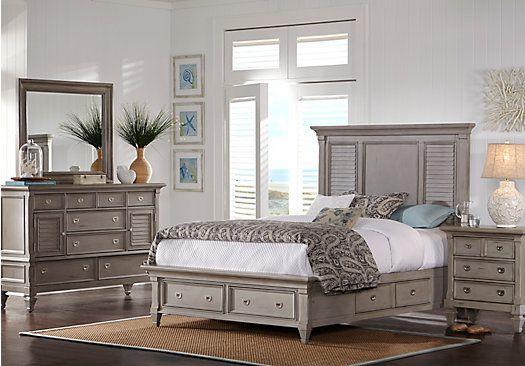 Belmar Gray 7 Pc King Panel Bedroom W Storage 2 255 00