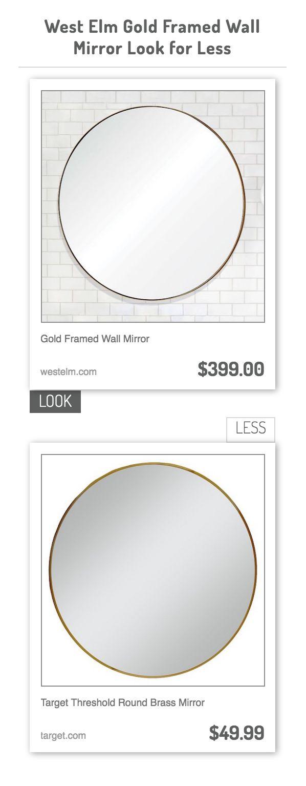 Gold Framed Wall Mirror vs Target Threshold Round Brass Mirror